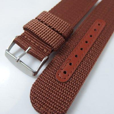 【錶帶家】24mm 直身尼龍錶帶帆布錶帶帆布帶代用 HAMILTON 漢米頓PANERAI 沛納海 SEIKO 各大軍錶