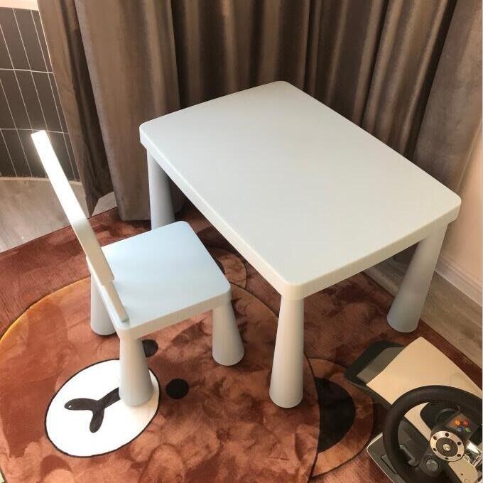 宜家用兒童幼兒園桌椅兒童學習桌書桌學習桌進口學習桌加厚YS