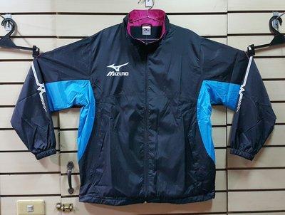 Mizuno 風衣如圖示黑色外套----XL , 2XL, 3XL現貨