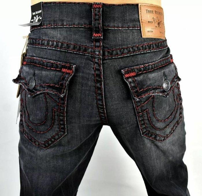 @54%OFF@TRUE RELIGION SUPER T 彌勒佛 牛仔褲 粗線 Straight   Ricky 全新