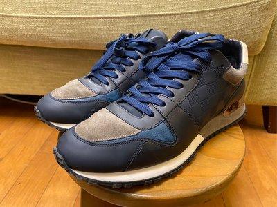 LV run away sneaker經典深藍真皮休閒鞋