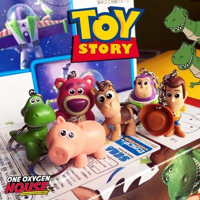 美國 Toy Story 玩具總動員 巴斯 胡迪 紅心 抱抱龍 豬排 熊抱哥 Q版 鑰匙圈 吊飾 玩具 公仔 豬 恐龍
