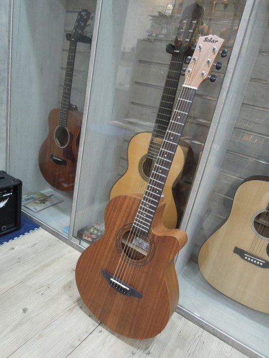 台南嘉軒樂器 SOLAR M-25 全桃花心木 39吋木吉他 大廠製作 高品質  高質感 聲音超好喔