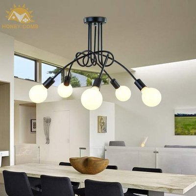 【熱銷款】1223 北歐風 吸頂3燈 現代 簡約 臥室 餐廳 創意 壁燈 混搭風 LOFT工業風 自行DIY組裝款
