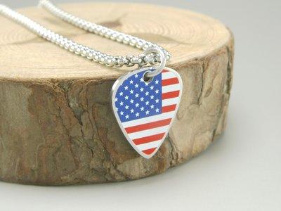 【POP+潮飾界】國旗系列之United States of America 美利堅合眾國 (美國) 不鏽鋼項鍊(單條)