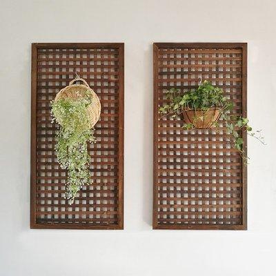 庭院防腐木柵欄圍欄戶外花園籬笆網格爬藤架室內裝飾木質隔斷花架小豬佩奇