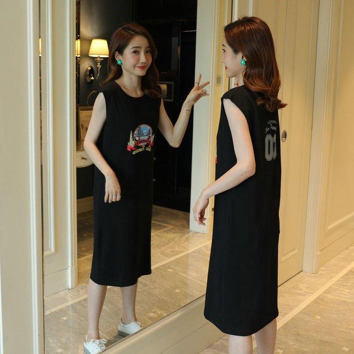 [C.M.平價精品館]新品特價M~3XL/清涼舒適純棉休閒無袖洋裝