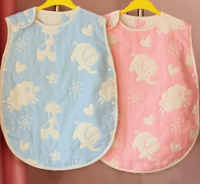 純棉六層紗布睡袋 會呼吸防踢背心 無螢光 防踢被 兒童寶寶防踢被 背心式