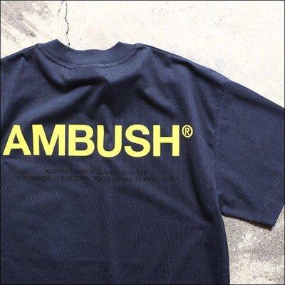 [JC] AMBUSH® 2019SS AMBUSH XL LOGO T-SHIRT/日本購回x背殺大LOGO短袖T恤