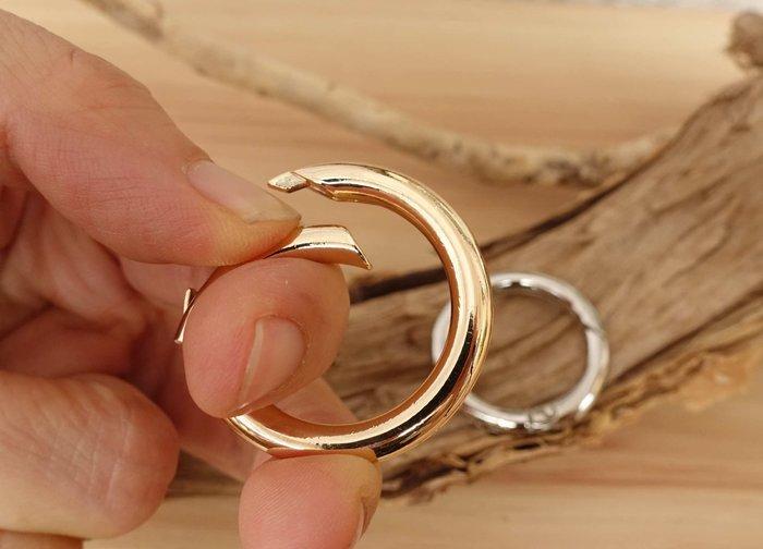 O環 高級合金 按壓 圓環 內徑1.9cm 彈簧圈 連接扣 開口圓環 提環 拼布 手工藝 DIY