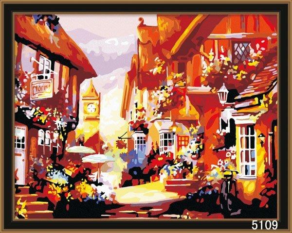 八號倉庫 DIY手繪風景人物花卉數字油畫 40x50【1T112X670】38下標區