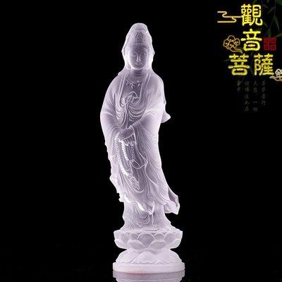 21-28厘米高琉璃觀音佛像家居佛堂供奉擺件琉璃觀音菩薩佛像供奉