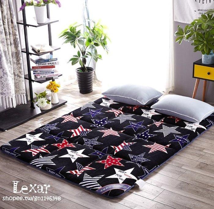 新款法蘭絨駝毛絨日式床墊雙人單人1.8 1.5床墊加厚可折疊床墊