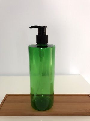 DIY擠壓瓶分裝瓶500ml 綠色平肩 按壓瓶.洗手液 乳液瓶.洗髮精瓶.沐浴乳瓶