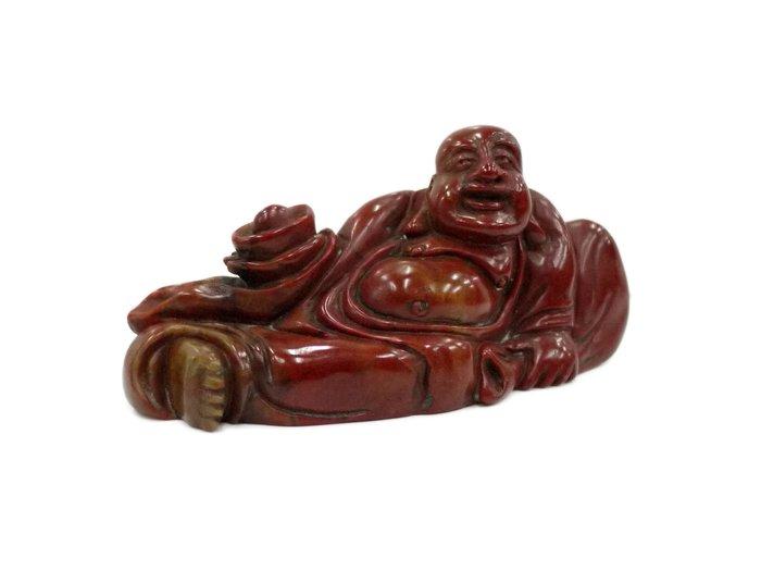 《博古珍藏》壽山石朱砂凍石.彌勒佛坐像印璽.名家蔣衡作.老件.收藏多年.國際拍賣級.底價回饋