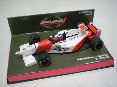 大衛拍賣網 MINICHAMPS 1/43 McLaren MP4/10 Mercedes - M.Hakkinen