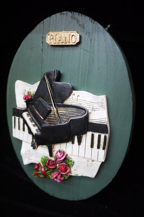 【布拉格歐風傢俱】鋼琴木板壁掛