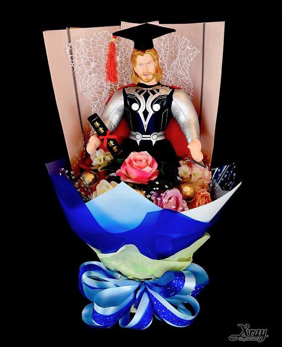 雷神索爾 捧花,Marvel/金莎花束/畢業花束/畢業典禮/情人節禮物/求婚,節慶王【Y030042】