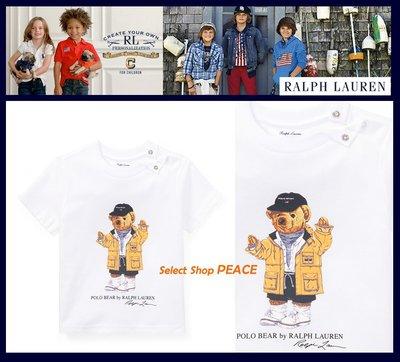Ralph Lauren 美國【現貨】18M/24M號 Baby T恤 Raincoat Bear
