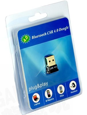 USB 藍牙傳輸器 發射器 接收器 藍芽 CSR4.0 支援 藍芽手把 耳機 PC【台中恐龍電玩】
