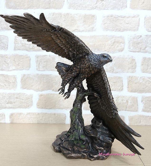 點點蘑菇屋 歐洲精品大型仿銅雕老鷹展翅翱翔擺飾 動物擺飾 精緻雕塑 野生動物 禮品 免運費 現貨