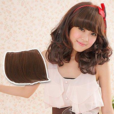 ☆雙兒網☆比一般瀏海髮量還更多100%耐熱纖維髮【A002】耐熱纖維-超厚卡哇伊平劉海髮片