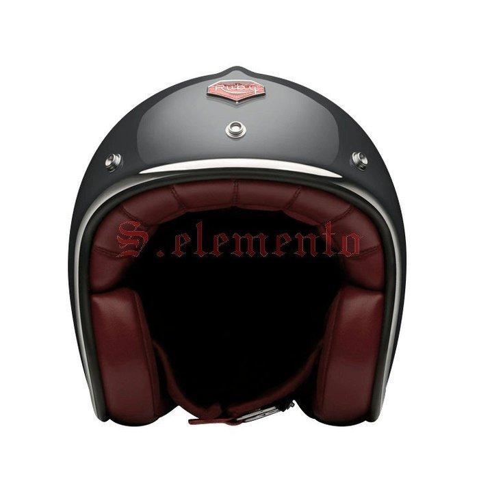 【預購優惠】Ateliers Ruby 安全帽 Pavillon ECE Voltaire 碳纖維 3/4 復古帽