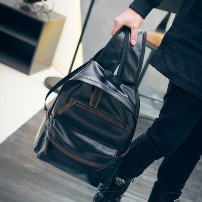 簡約男包雙肩包男韓版時尚潮流學生書包女男士背包休閑旅游電腦包