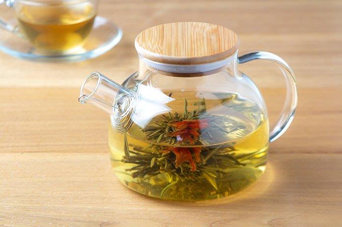 晴天咖啡☼  竹蓋耐熱壺 (1000ml) 玻璃壺 花茶壺 開水壺 煮開水 咖啡壺 泡茶壺 冷泡壺