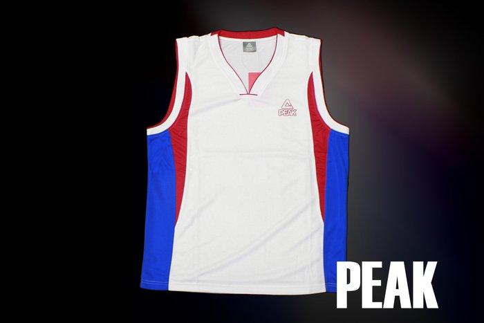 PEAK 專業籃球衣 F721071 上衣 白藍紅 正品 現貨 台灣經銷代理商-亮禹體育