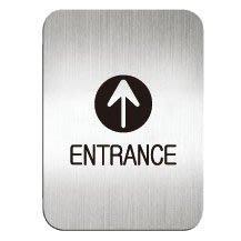 [職人の紙.二店工場] 美國迪多 Deflect-o/高質感鋁製品 系列/標示貼牌/ENTRANCE 方形/含稅價 !