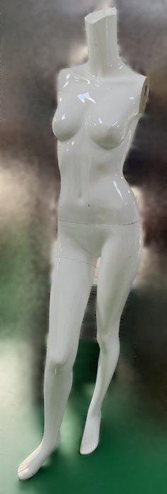 宏品二手家具館 台中便宜家中古傢俱賣場XS110803*白色模特兒(無手)*2手拍賣 服飾店用品 展示櫃 吊衣架 吊衣桿