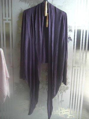 瑤瑤小舖@12變之深紫色超彈性罩衫,約八九成新~~約M~L適穿~