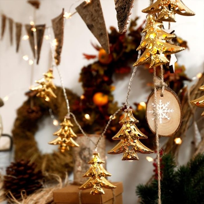 聖誕節裝飾用品創意場景佈置ins風房間聖誕樹掛飾道具小彩燈燈串