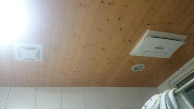 廁所、浴室 塑膠天花板 矽酸鈣板  實木天花板 新作 更換(新竹  竹北)