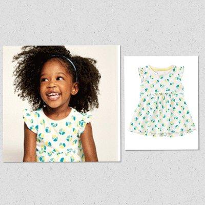 美國GYMBOREE正品新品Geo Print Smock Top短袖上衣(前短後長)18~24m.2T3T4T