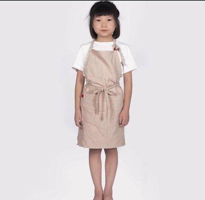 日式時尚兒童圍裙 定制logo美術 畫畫 陶藝 幼兒園 安親班 才藝教室