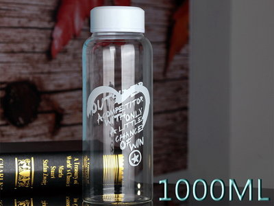 1000CC 1000ML 玻璃水壺 水杯 造型耐熱玻璃水瓶 高硼矽玻璃瓶 玻璃水瓶 玻璃瓶 愛心款 大瓶蓋 台北市