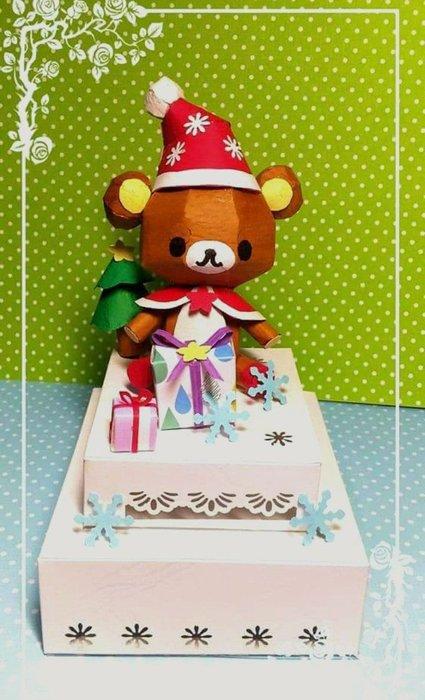 一番街手作設計家☆聖誕拉拉熊蛋糕燈↙懶懶熊(七彩的)
