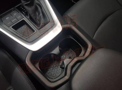 (小鳥的店)豐田 2019 5代 五代 RAV-4 RAV4 流木紋 前座置杯架 水杯架飾框 ABS水轉 toyota