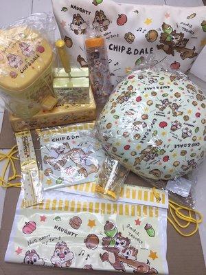 日本正品迪士尼Disney Chipndale/ Chip and dale/ Chip n dale大鼻與鋼牙福袋10件裝袋水樽水杯筷子紙巾盒垃圾桶索袋