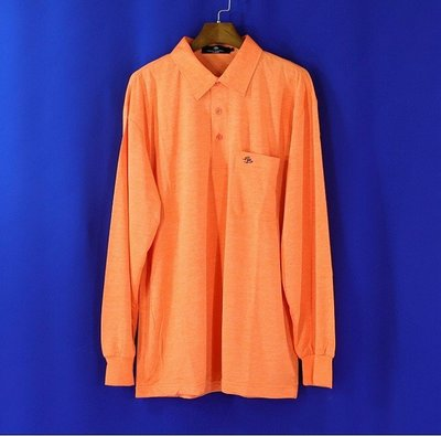 ※衣網情深※男【皮爾帕門 PIERRE BALMAIN】橘色 長袖POLO衫 L號1249