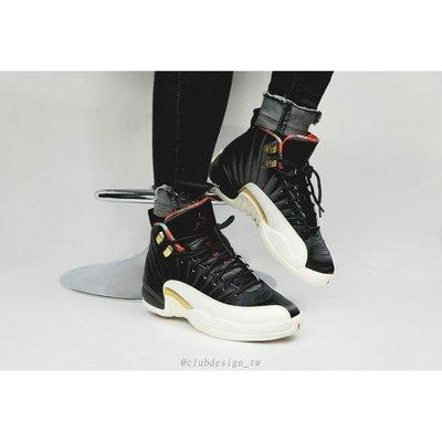 【Club Design】AIR JORDAN 12 RETRO CNY 黑金 男女鞋 - CI2977 006