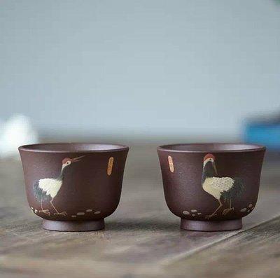 茗壺居....手工泥繪主人杯2個