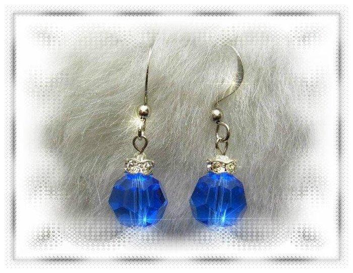 ※水晶玫瑰※ SWAROVSKI 10mm水晶珠 耳勾式耳環(DD324)~出清~三對免郵