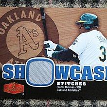 Frank Thomas 2006 Flair Showcase 名人堂521轟重砲球星 早期運動家隊實戰球衣卡no簽名