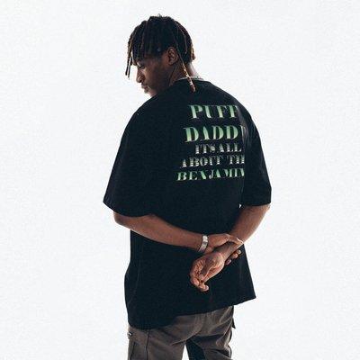 「橙子小鋪」 ANTIDOTE (SNAKELAB) 20SS 嘻哈說唱人像PUFF DADDY短袖T恤衫男女D5G5