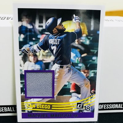 Manuel Margot 2018 Donruss Retro Relic 球衣卡