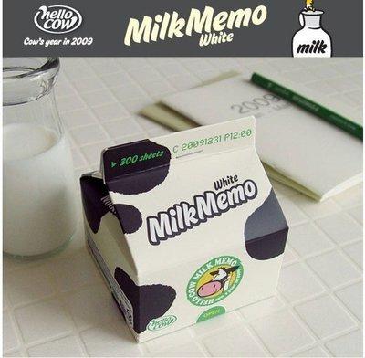 【象牙 Cute Ta】韓國 Hello Cow Milk Memo(White) 牛奶 便條紙