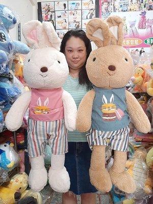法國兔娃娃 大兔子 馬卡龍 鄉村兔 海軍兔 85公分 兔子娃娃~情人兔子娃娃~包裝禮物 高屏可取